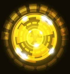 Abstract technology yellow background with circles vector