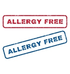 Allergy free rubber stamps vector