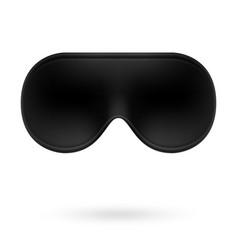 black eye sleep mask vector image vector image