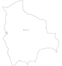 Black White Bolivia Outline Map vector image vector image