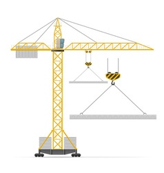 Building crane 03 vector