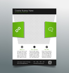 Business flyer template - fresh and modern design vector