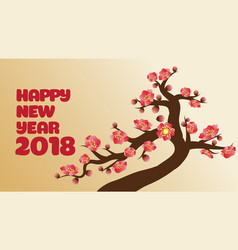 Chinese new years decoration for blossom spring vector