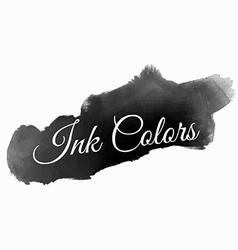 Dark black ink colors vector