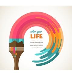 Design creative idea and color concept vector