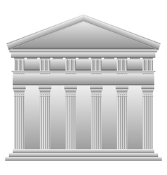 Doric Greek temple vector image vector image