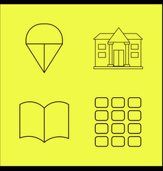 Essential linear icon set vector