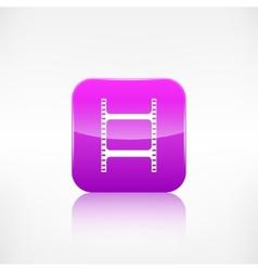 Film web icon application button vector