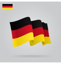 Flat and waving german flag vector