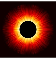 glowing eclipse vector image