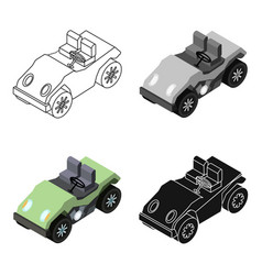 golf cart icon in cartoon style isolated on white vector image vector image