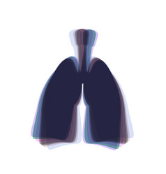 Human anatomy lungs sign colorful icon vector
