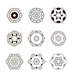 Logo templates set Abstract circle creative signs vector image vector image