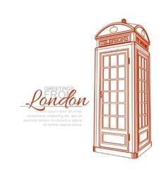 London Greeting Card vector image