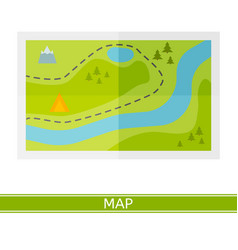 map icon vector image vector image