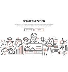Seo optimization - line design website banner vector