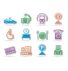 sirport icons vector image vector image