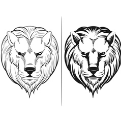 Sketch of lion head vector