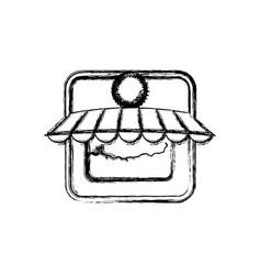 store shop building vector image