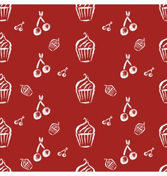 Vintage bakery hand drawn seamless pattern vector image vector image