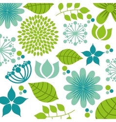 Leafs floral nature icon vector