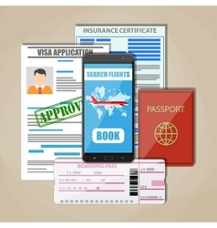 Travel documents concept vector