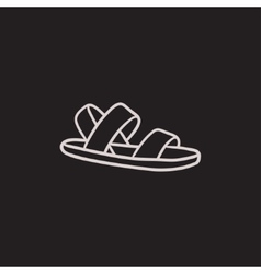 Sandal sketch icon vector