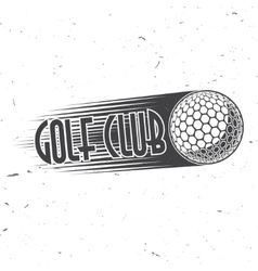 Golf club concept with ball silhouette vector