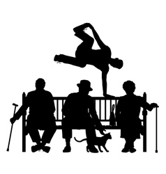 Park bench parkour vector