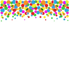 Set of multicolored circles isolated on white vector