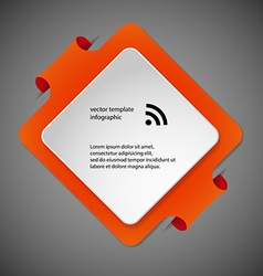 Square infographic template with orange color vector