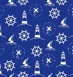 Set of sea and nautical seamless patterns vector