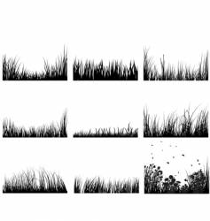 Grass set vector