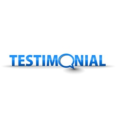 Web testimonial icon vector