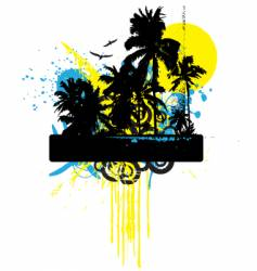 tropical grunge graphic vector image