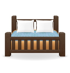 Double bed 01 vector