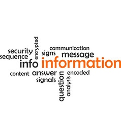 Word cloud information vector