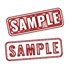 Two realistic sample grunge rubber stamps vector