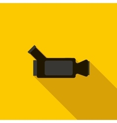 Video camera icon flat style vector image