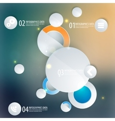 Abstract business geometrical design with circles vector