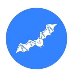 Bat icon in black style isolated on white vector