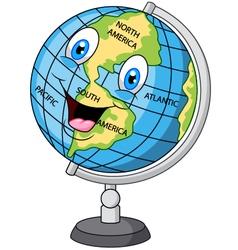 Cartoon happy globe vector