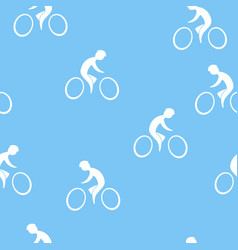 Cyclist seamless pattern vector
