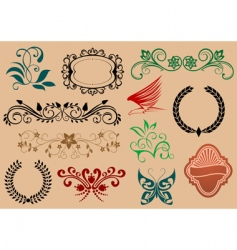 decorative symbols vector image vector image
