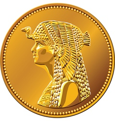 egypt fifty piastres coin vector image