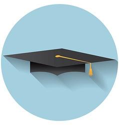 Flat design modern of graduation cap icon vector