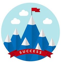 Flat design with success symbol vector image