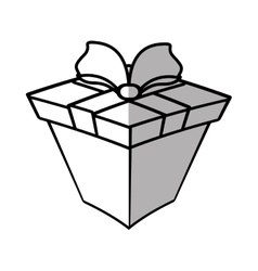 Gift box ribbon wrapped shadow vector