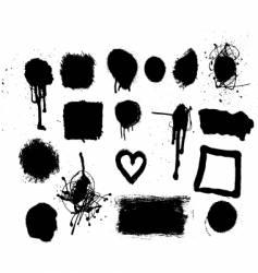grunge mark set vector image vector image