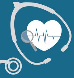 Heartbeat search health care vector